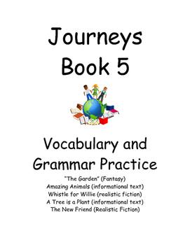 Journeys First Grade book 5- vocab and Grammar