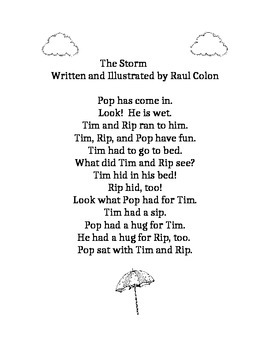 Journeys First Grade lesson 2 story, The Storm