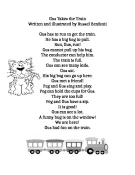 Journeys First Grade lesson 5 story, Gus Takes the Train