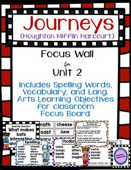 Journeys Third Grade Focus Wall for Unit 2