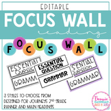 EDITABLE Journeys Focus Wall Banner and Headers