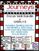 Journeys Focus Wall Bundle for Units 1-3