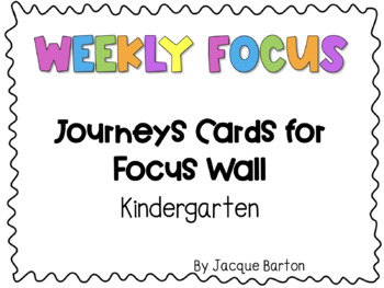 Journeys Focus Wall Cards