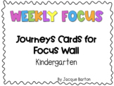 Journeys Kindergarten Focus Wall Cards