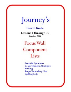 Reading: Houghton Mifflin Journey's Focus Wall Posters 4th Grade Version 2014