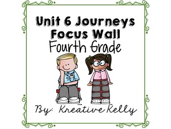 Journeys Focus Wall Fourth Grade Unit 6
