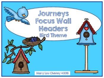 Journeys Focus Wall Header-Bird Theme