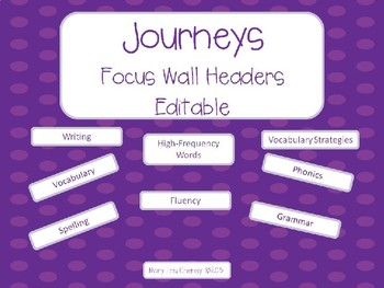Journeys Focus Wall Headers