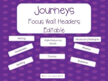 Journeys Focus Wall Headers