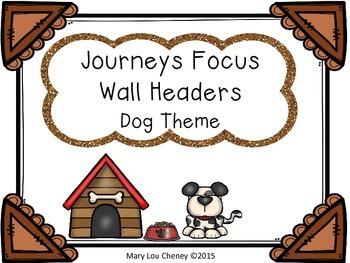Journeys Focus Wall Headers-Dog Theme