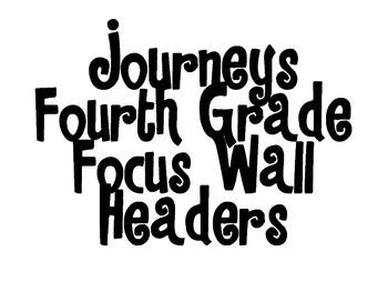 Journeys Focus Wall Headers Grade 4