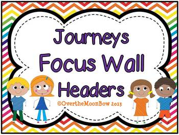 Journeys Focus Wall Headers ~ Rainbow Chevron