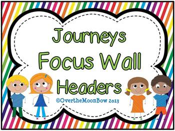 Journeys Focus Wall Headers ~ Rainbow Stripe & Polka Dot
