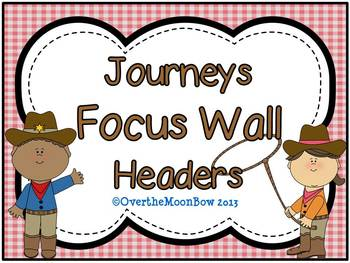 Journeys Focus Wall Headers ~ Western & Gingham Theme