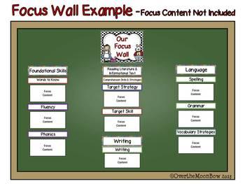 Journeys Focus Wall Headers ~ Wonderland Theme