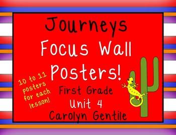 Journeys Focus Wall Poster!  First Grade Unit 4