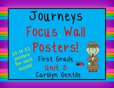 Journeys Focus Wall Posters!  Unit 3 First Grade