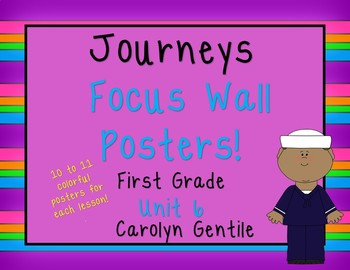 Journeys Focus Wall Posters!  Unit 6 First Grade