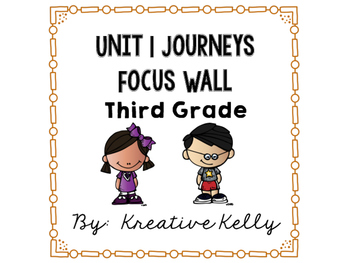 Journeys Focus Wall Third Grade Unit 1