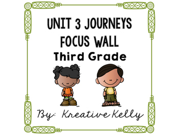 Journeys Focus Wall Third Grade Unit 3