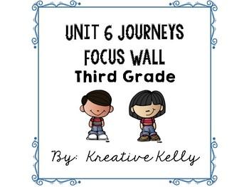 Journeys Focus Wall Third Grade Unit 6