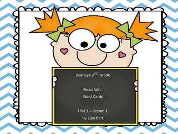 Journeys Focus Wall Word Cards--Unit 1: Lesson 1