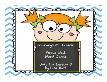 Journeys Focus Wall Word Cards--Unit 1: Lesson 5