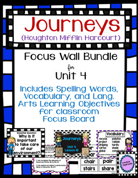 Journeys Third Grade Focus Wall for Unit 4