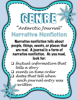 "Journeys Fourth Grade:  ""Antarctic Journal"""