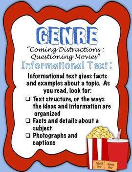 """Journeys Fourth Grade:  """"Coming Distractions:  Questioning Movies"""""""