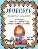 """Journeys Fourth Grade:  """"Dear Mr. Winston"""""""