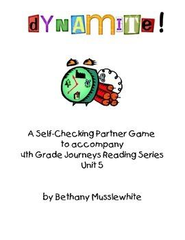 Journeys Fourth Grade Dynamite! Vocabulary Unit 5