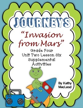"Journeys Fourth Grade:  ""Invasion from Mars"""