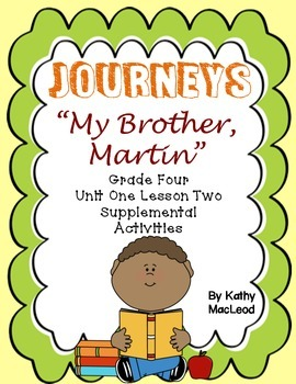 "Journey's Fourth Grade:  ""My Brother Martin"""
