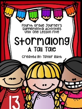 Fourth Grade Journey's Supplemental Activities: Stormalong Lesson 5