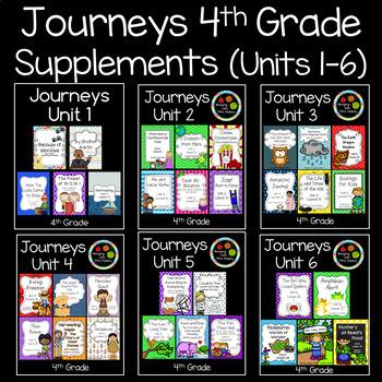 Journeys Fourth Grade Supplemental Materials (Units 1-6)