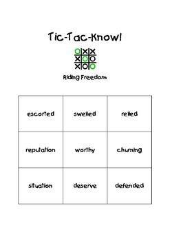 Journeys Fourth Grade Tic Tac Know! Vocabulary Unit 4