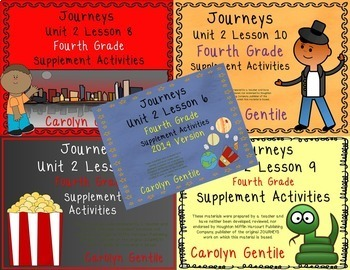 Journeys Fourth Grade Unit 2 Bundle 2014/2017