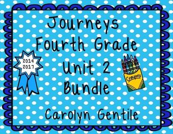 Journeys Fourth Grade Unit 2 Bundle 2014 2017