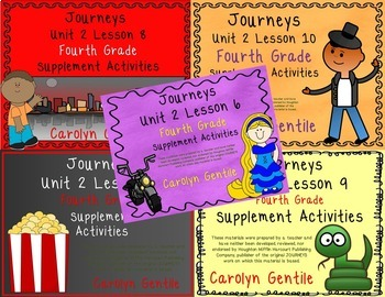 Journeys Fourth Grade Unit 2 Bundle 2012 Version