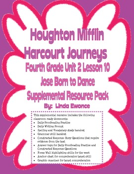 Journeys Fourth Grade Unit 2 Lesson 10 - Jose!  Born to Dance
