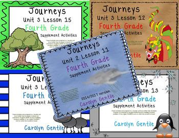 Journeys Fourth Grade Unit 3 Bundle 2014/ 2017 Version
