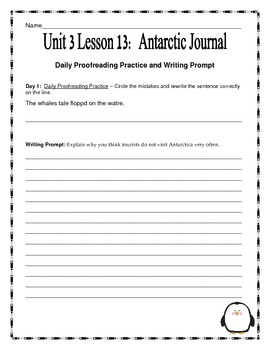 Journeys Fourth Grade Unit 3 Lesson 13- Antarctic Journal