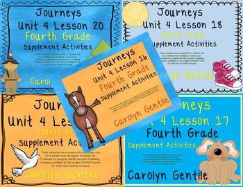 Journeys Fourth Grade Unit 4 Bundle 2012 Version