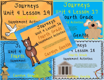 Journeys Fourth Grade Unit 4 Bundle  2014/2017 Version