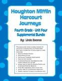 Journeys 4th Grade Unit 4 Supplemental Bundle (2012 Common Core Aligned Version)