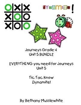 Journeys Fourth Grade Unit 5 BUNDLE
