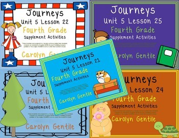 Journeys Fourth Grade Unit 5 Bundle 2012, 2014, 2017