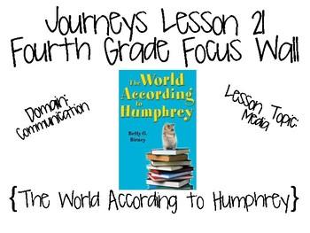Journeys Fourth Grade Unit 5 Focus Wall