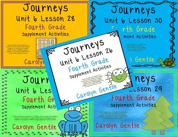 Journeys Fourth Grade Unit 6 Bundle 2012, 2014, 2017